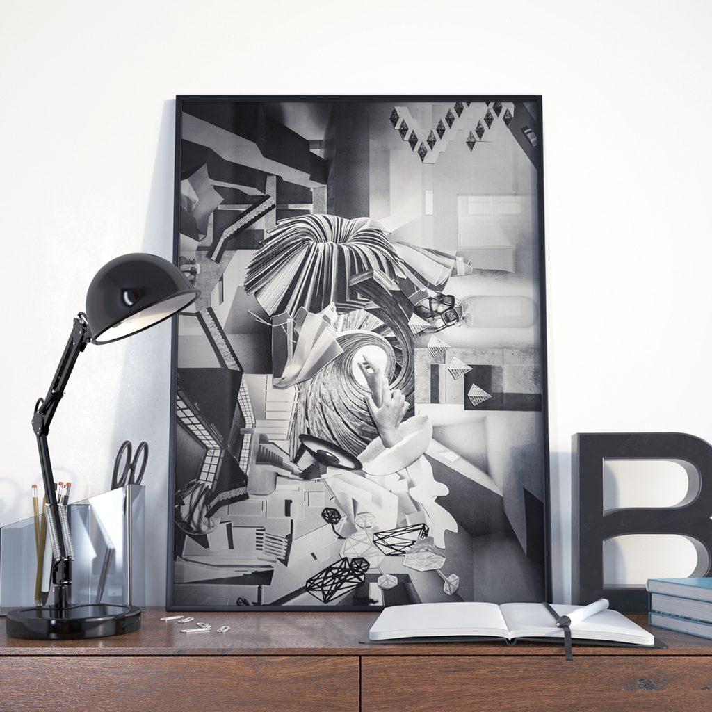 Künstlerisch Collage Basteln Foto Von So Zueinander Passen, Dass Es Ein In